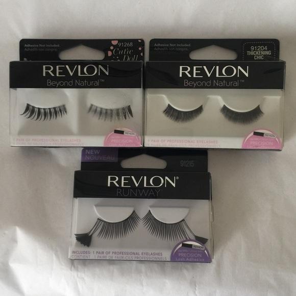 Revlon Makeup Fantasy Lengths 3 Pair Eyelashes Glue New Poshmark